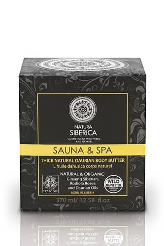 Unt de corp Daurian cu ginseng siberian Sauna & Spa, 370 ml - Natura Siberica