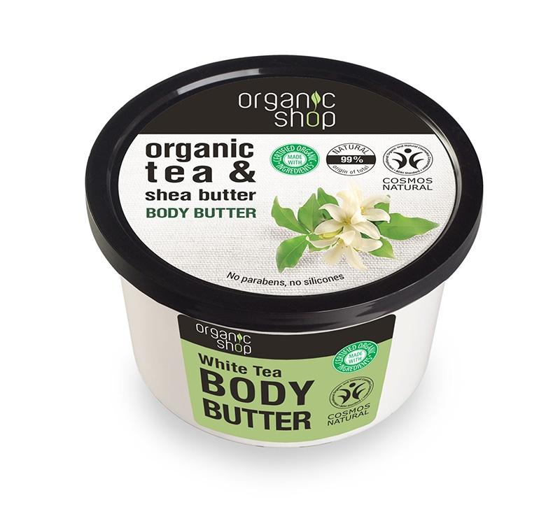 Unt de corp delicios cu ceai alb White Tea, 250 ml - Organic Shop