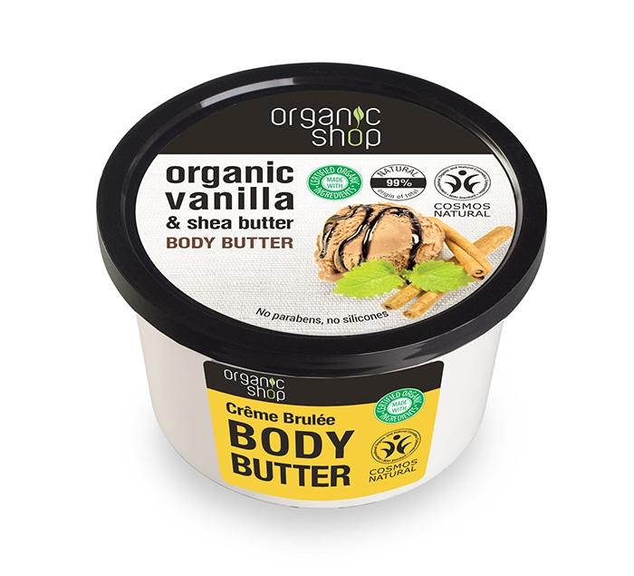 Unt de corp delicios crema de zahar ars Creme Brulee, 250 ml - Organic Shop
