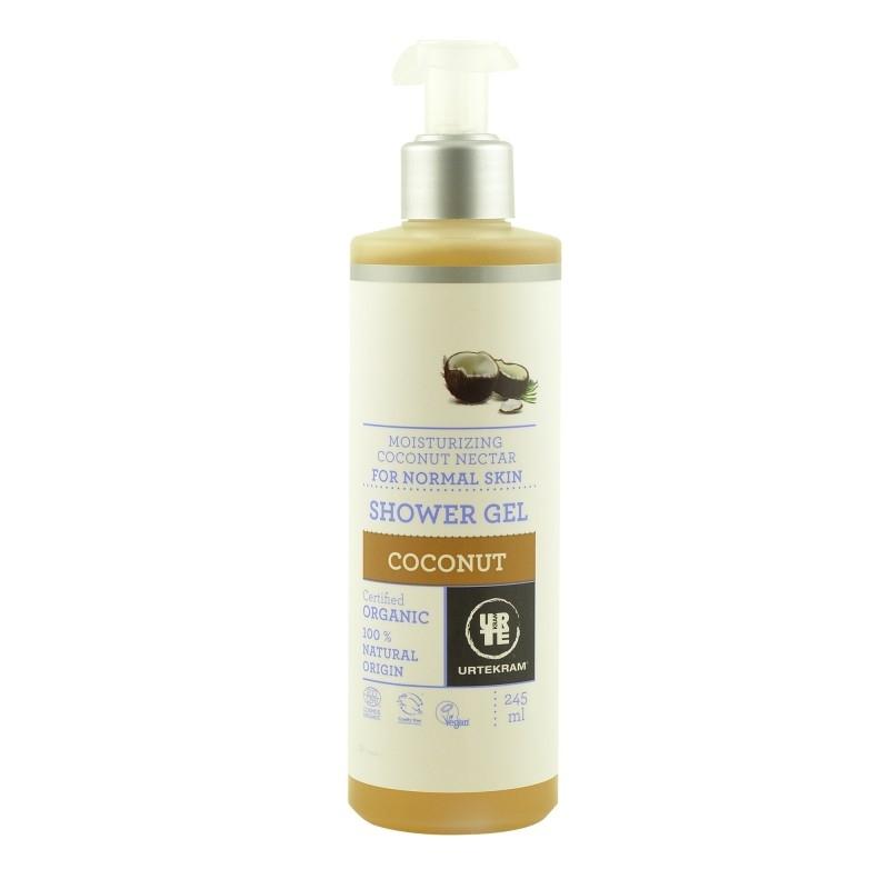 Gel dus bio cu nectar de cocos pentru piele normala 245 ml - URTEKRAM