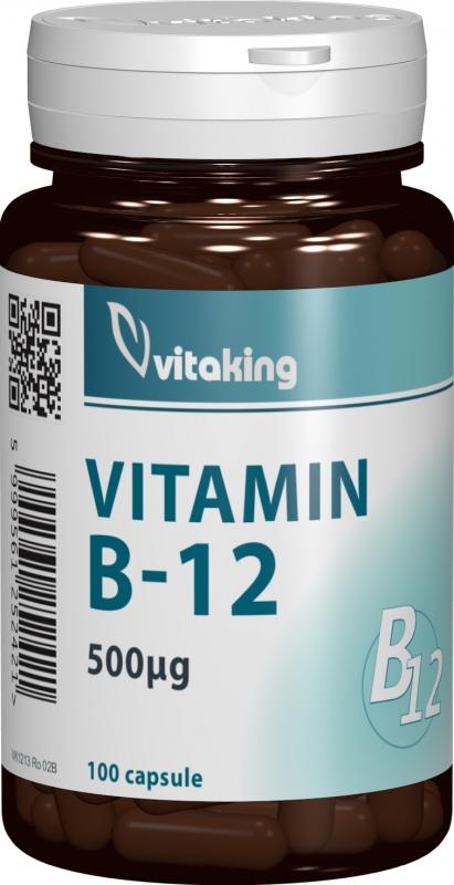 Vitamina B12 (Cianocobalamina) 500mcg, 100 cps - Vitaking