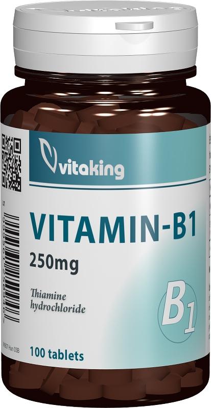Vitamina B1 (Tiamina) 250mg, 100 comprimate - Vitaking