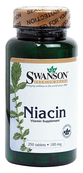Vitamina B3 (Niacina) 100mg, 250 comprimate - Swanson