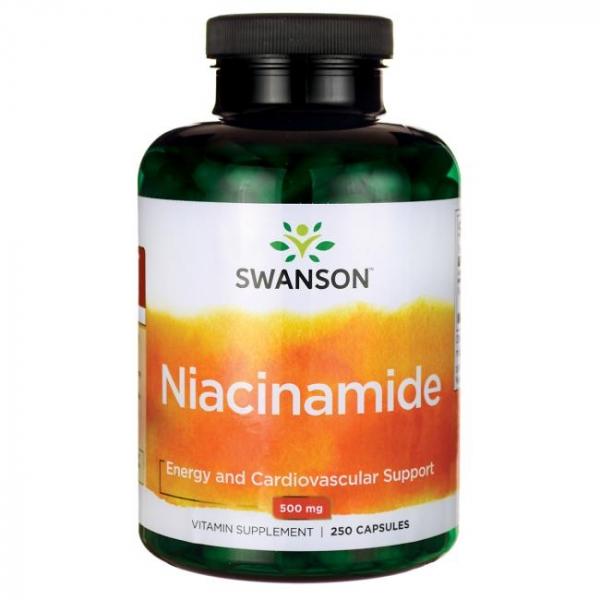 Vitamina B3 (Niacinamida) 500mg, 250 cps - Swanson