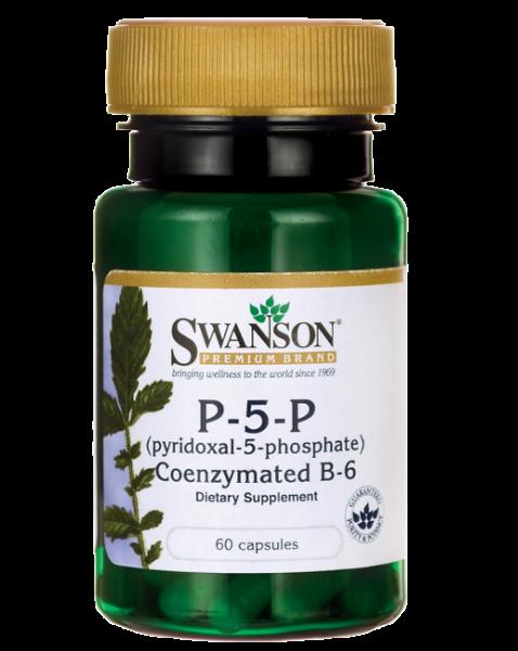 Vitamina B6 (Piridoxină) 20mg, 60 capsule - Swanson