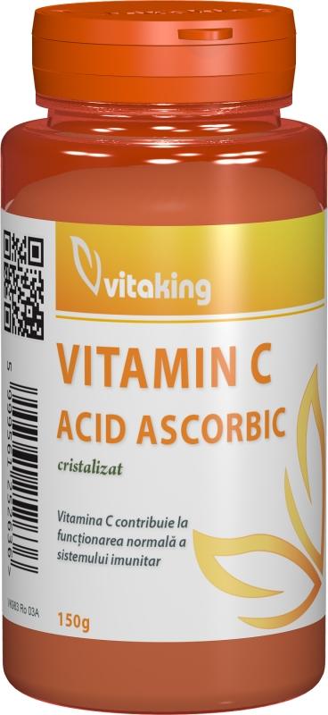 Vitamina C cristalizata, 150g - Vitaking