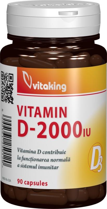 Vitamina D 2000 UI, 90 cps- Vitaking
