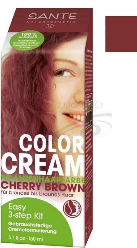 Vopsea de par CREMA 100% naturala, Cherry Brown - SANTE NATURKOSMETIK