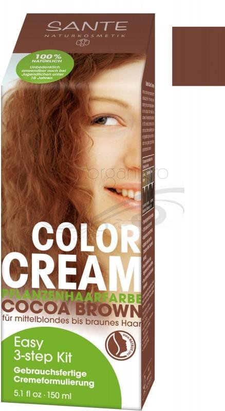 Vopsea de par CREMA 100% naturala, Cocoa Brown - SANTE NATURKOSMETIK