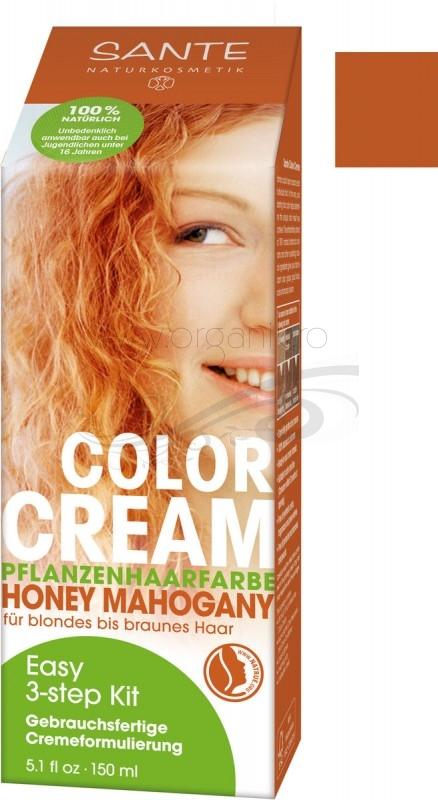 Vopsea de par CREMA 100% naturala, Honey Mahogany - SANTE NATURKOSMETIK