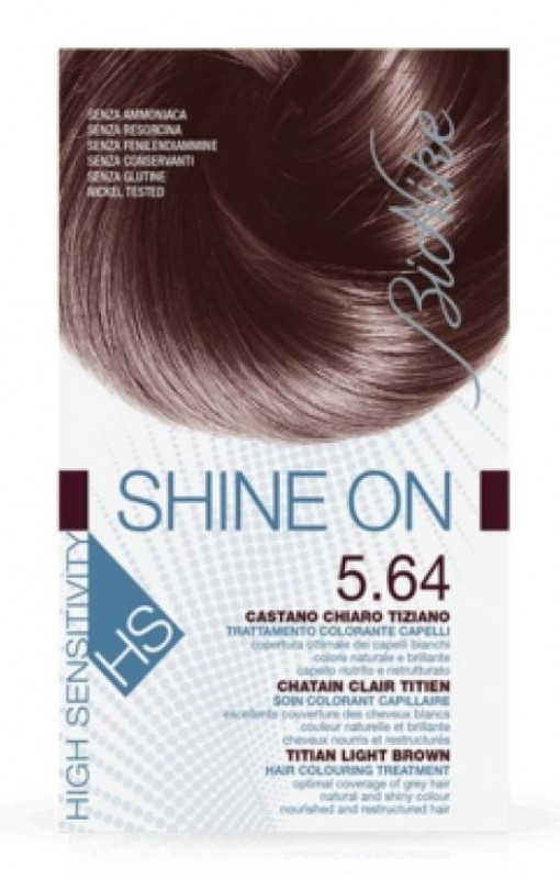 Vopsea de par hipoalergenica Shine On HS, Titian Light Brown 5.64 - Bionike