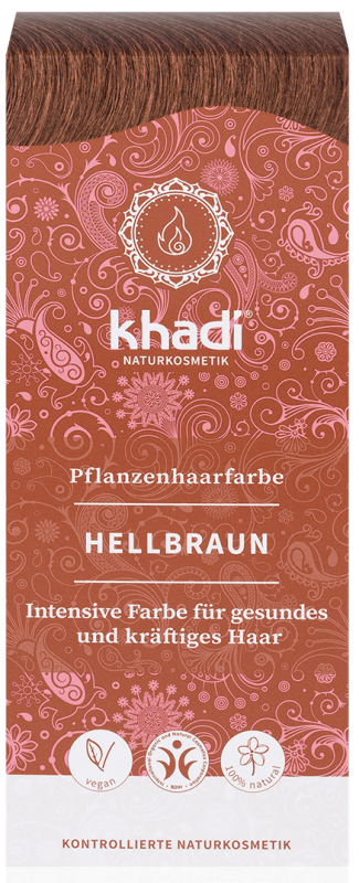 Vopsea de par naturala Saten Deschis - Khadi