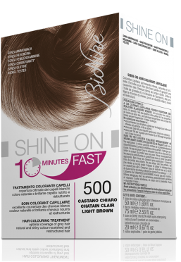 Vopsea de par naturala rapida Shine On FAST, Light Brown 500 - Bionike