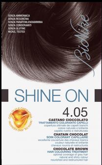 Vopsea de par tratament Shine On, Chocolate Brown 4.05 - Bionike