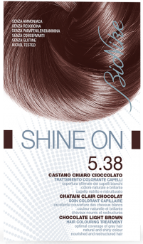 Vopsea de par tratament Shine On, Chocolate Light Brown 5.38 - Bionike