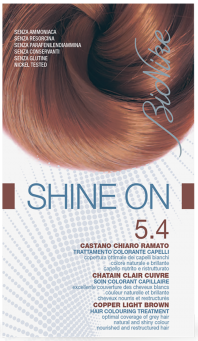 Vopsea de par tratament Shine On, Copper Light Brown 5.4 - Bionike