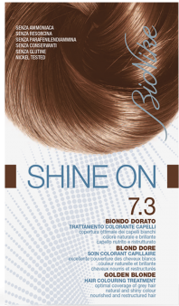 Vopsea de par tratament Shine On, Golden Blonde 7.3 - Bionike