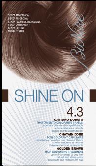 Vopsea de par tratament Shine On, Golden Brown 4.3 - Bionike