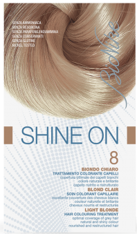 Vopsea de par tratament Shine On, Light Blonde 8 - Bionike