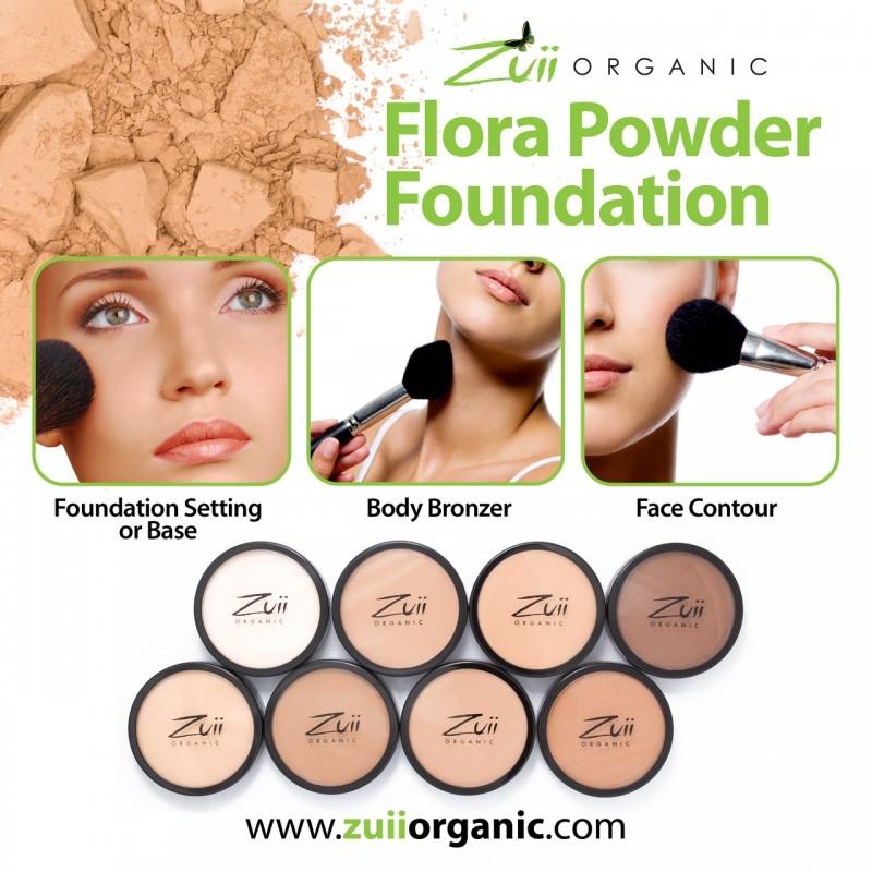 Pudra compacta organica, cu ingrediente florale, Hazelnut - ZUII Organic