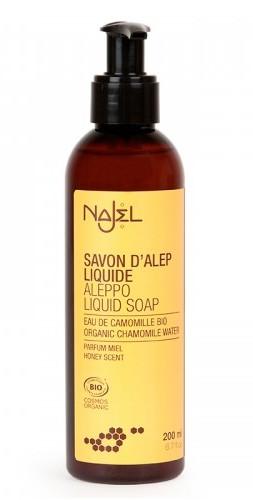 Sapun de Alep lichid bio cu Musetel si aroma de miere, 200ml - NAJEL