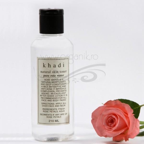 Apa florala de trandafiri naturala, 210 ml - Khadi