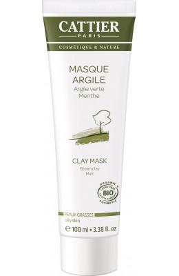 Masca bio cu argila verde pentru purificarea si curatarea tenului gras, acneic - Cattier