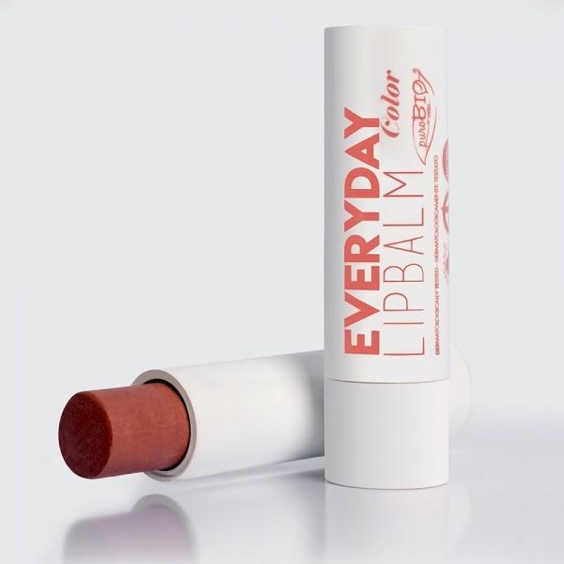 Balsam de buze nuantat Everyday Color - PuroBio