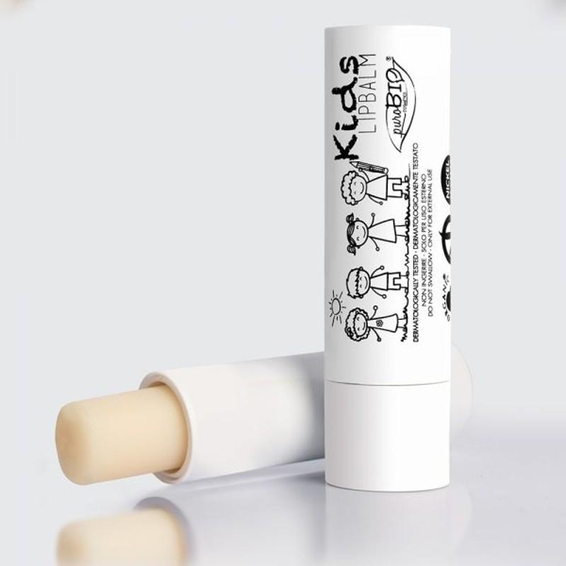 Balsam de buze vegan pentru copii - PuroBio