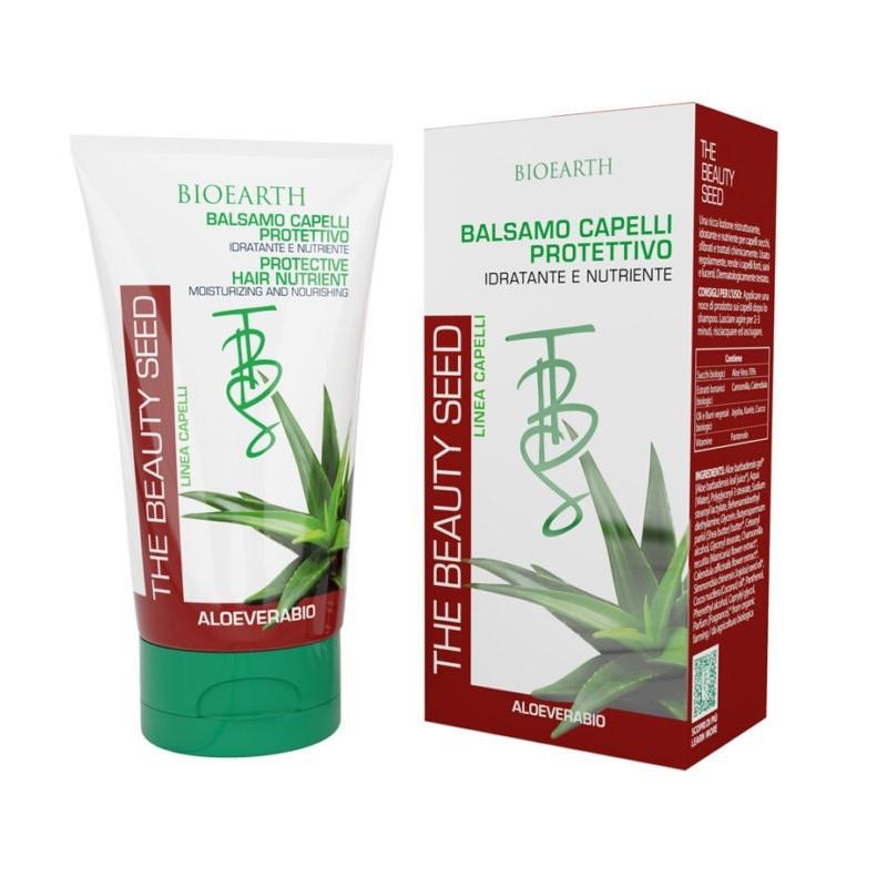 Balsam de par hidratant nutritiv cu aloe si unt de shea, 150 ml - Bioearth