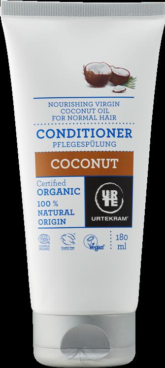 Balsam bio cu nectar de cocos pentru par normal, 180 ml - URTEKRAM