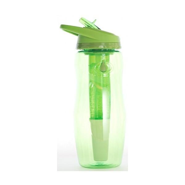 Sticla de apa cu filtru de carbon si gel de racire non toxic, 946 ml VERDE - Irisana