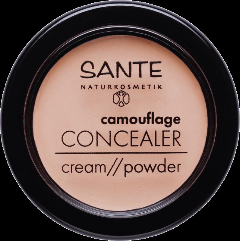 Corector camuflaj pudra-crema 02 Sand - SANTE NATURKOSMETIK