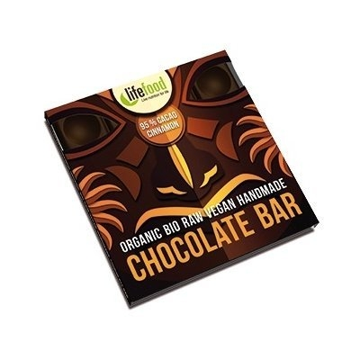 Ciocolata raw bio cu 95% cacao si scortisoara, 35g - Lifefood