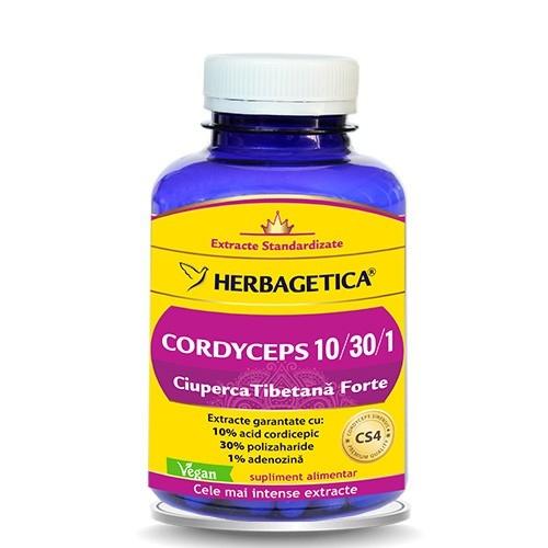 Cordyceps, Ciuperca Tibetana Forte, 120 capsule - HERBAGETICA