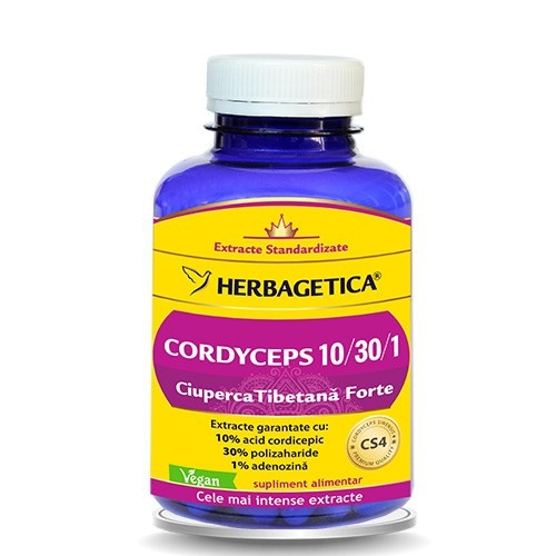 Cordyceps, Ciuperca Tibetana Forte, 30 capsule - HERBAGETICA