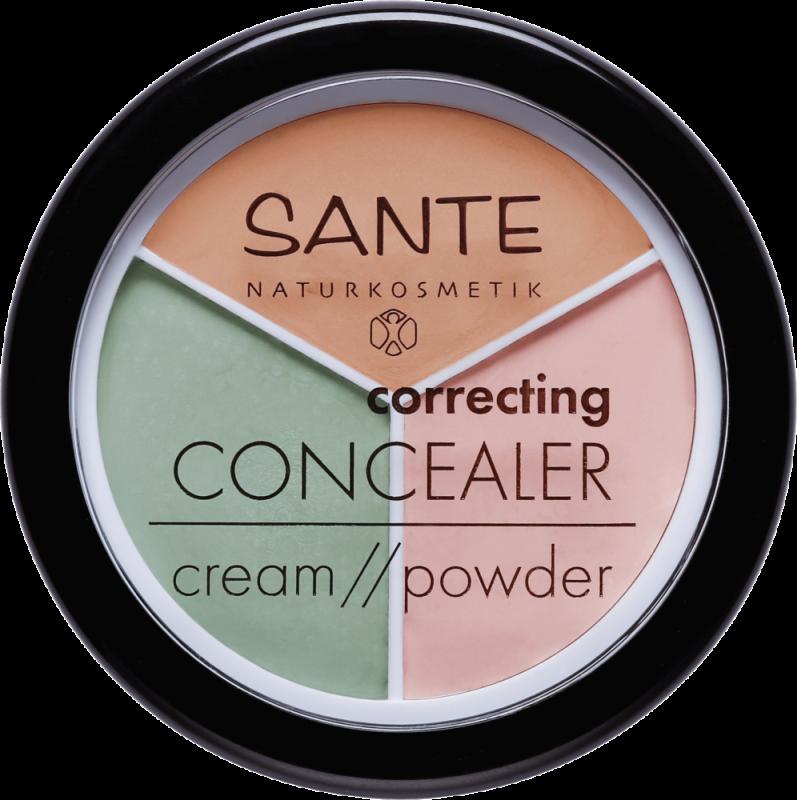 Corector 3in1 roseata, cearcane, pete pigmentare - SANTE NATURKOSMETIK