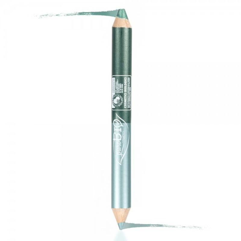 Creion de ochi 2in1 contur & fard, pentru machiaj de seara - PuroBio