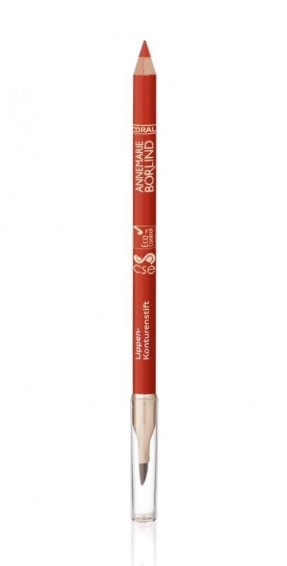 Creion contur cu pensula de buze, Coral - Annemarie Borlind