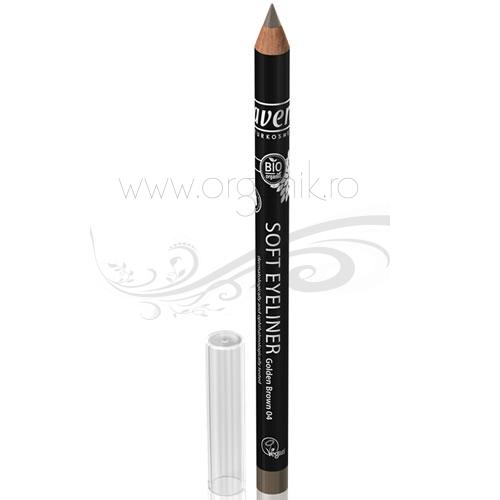 Creion BIO contur ochi Maro Auriu 04 - LAVERA