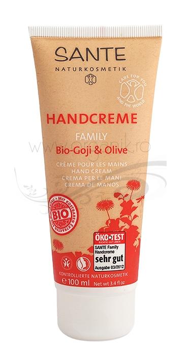 Crema de maini cu extract de goji si ulei masline, 100 ml - SANTE NATURKOSMETIK