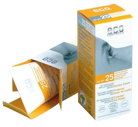 Crema bio protectie solara FPS 25, 75 ml - Eco Cosmetics