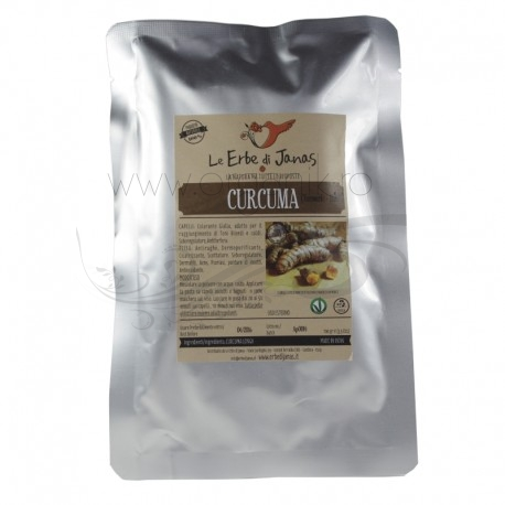 Curcuma (turmeric) pudra ayurvedica, 100 g - Erbe di Janas