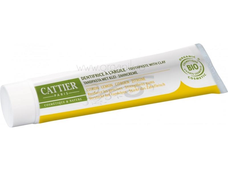 Pasta de dinti bio cu argila si lamaie, Dentargile - CATTIER