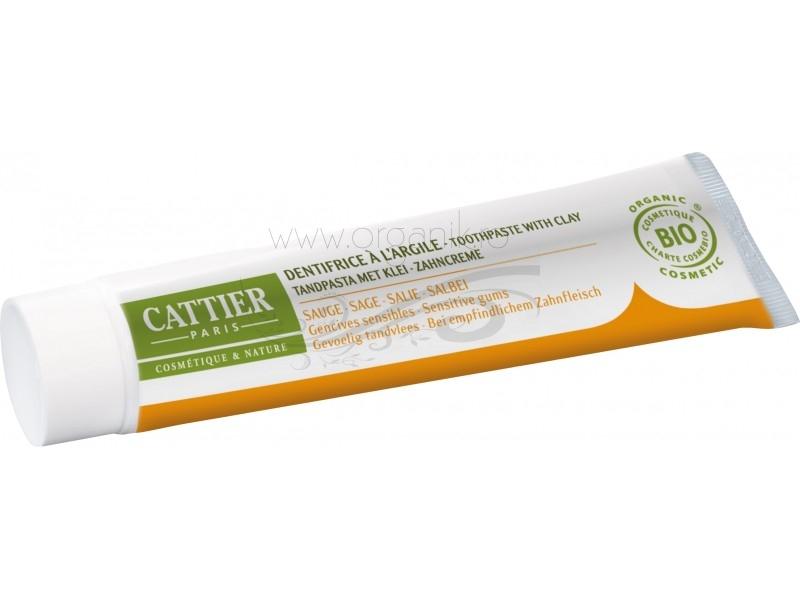 Pasta de dinti bio cu salvie pentru gingii sensibile si inflamate, Dentargile - CATTIER
