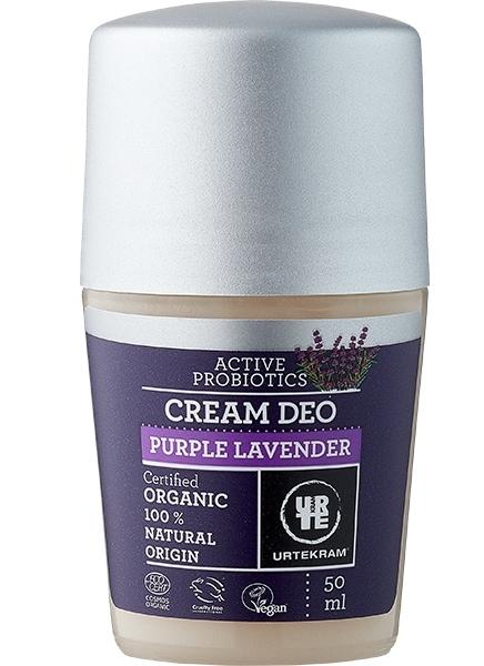 Deodorant roll-on crema cu lavanda si probiotice - URTEKRAM