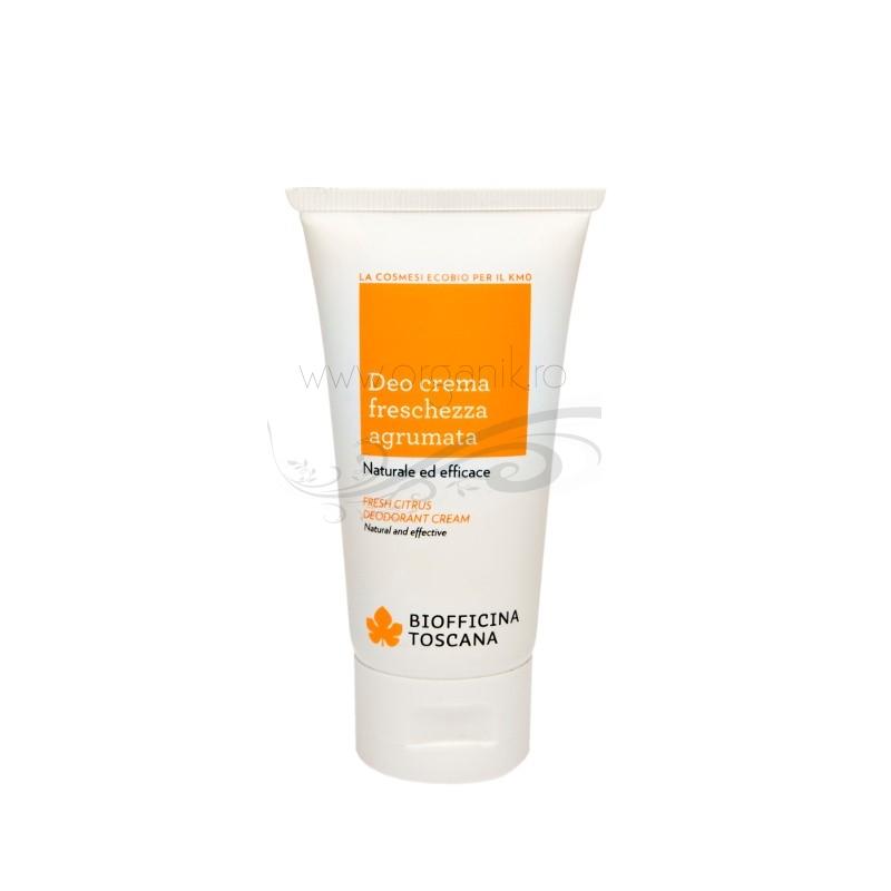 Deodorant crema bio cu aroma de citrice - Biofficina Toscana