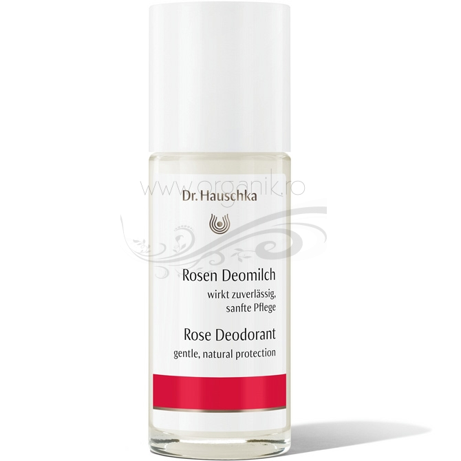 Deodorant roll-on natural cu trandafiri, 50 ml - Dr. Hauschka
