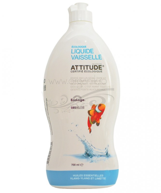 Detergent ecologic de spalat vase si biberoane Ylang ylang & Lime, 700 ml - ATTITUDE