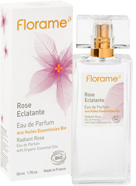 Apa de parfum bio Radiant Rose, 50 ml - Florame